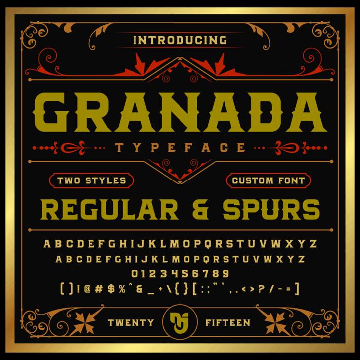 MJ Granada Font text poster