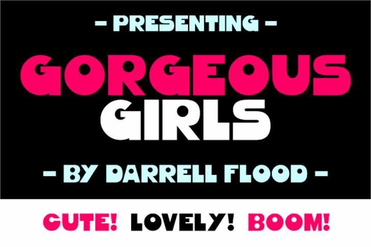 Gorgeous Girls Font screenshot poster