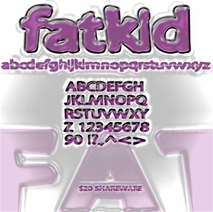 Fatkid Font design screenshot