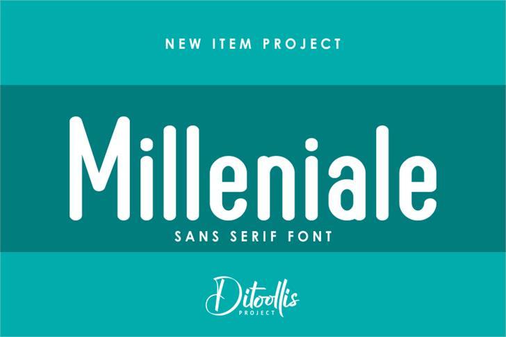 Milleniale Font graphic