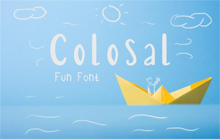 Colosal Font design blackboard
