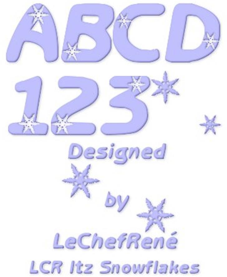 LCR Itz Snowflakes Font cartoon design