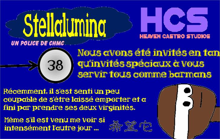 Stellalumina Font screenshot text