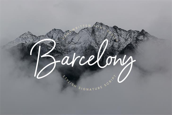 Barcelony Font handwriting