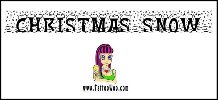 Christmas Snow font by Jonathan S. Harris