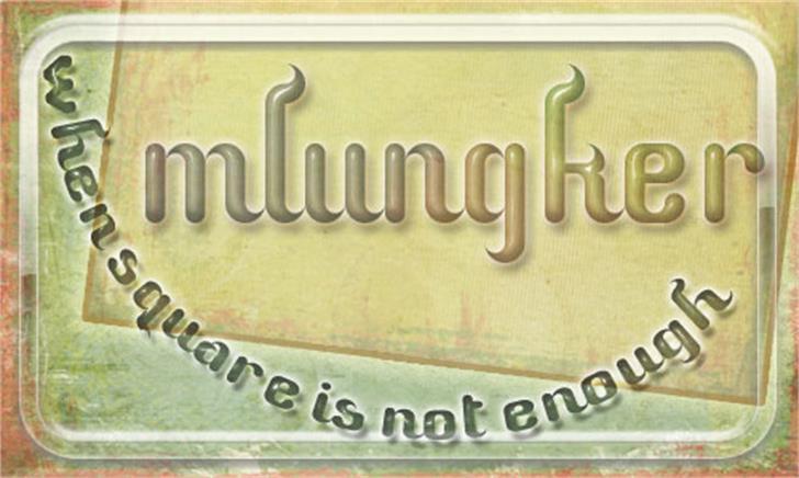 Mlungker Font typography font