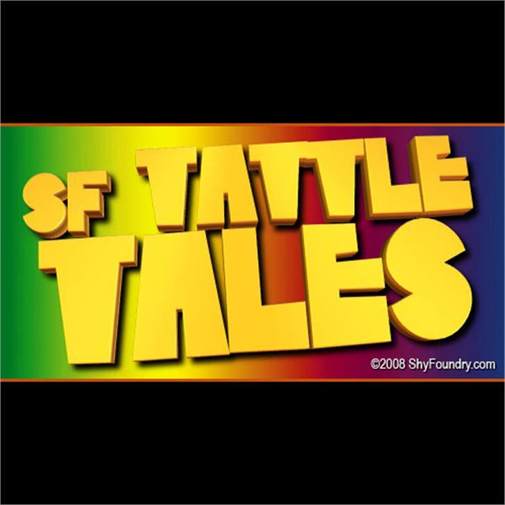 SF Tattle Tales font by ShyFoundry
