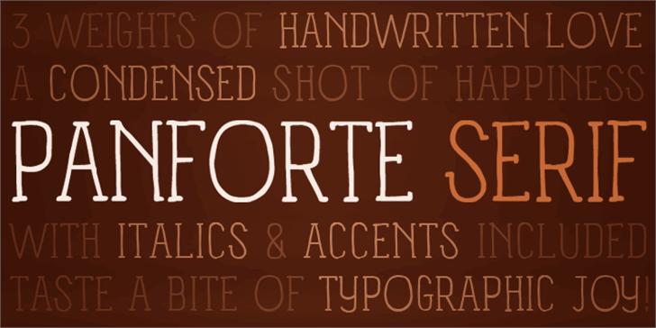 Panforte Serif Font book text