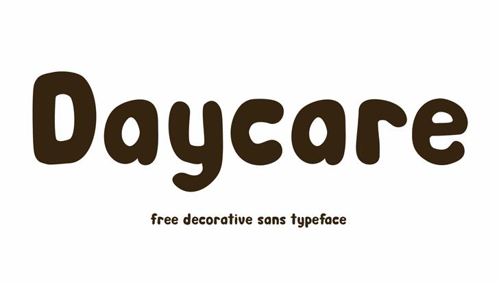 Day Care Font design font