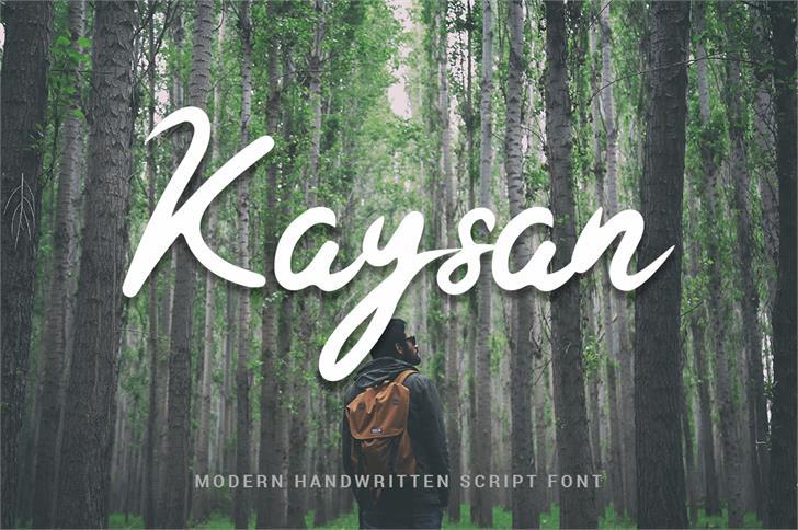 Kaysan Signature Font tree outdoor