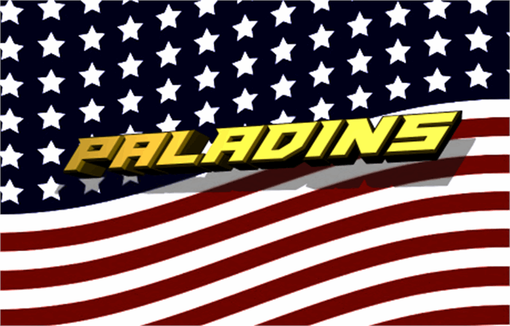 Paladins Font flag flag of the united states