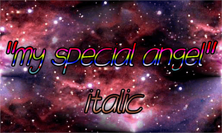 my special angel Font star fireworks