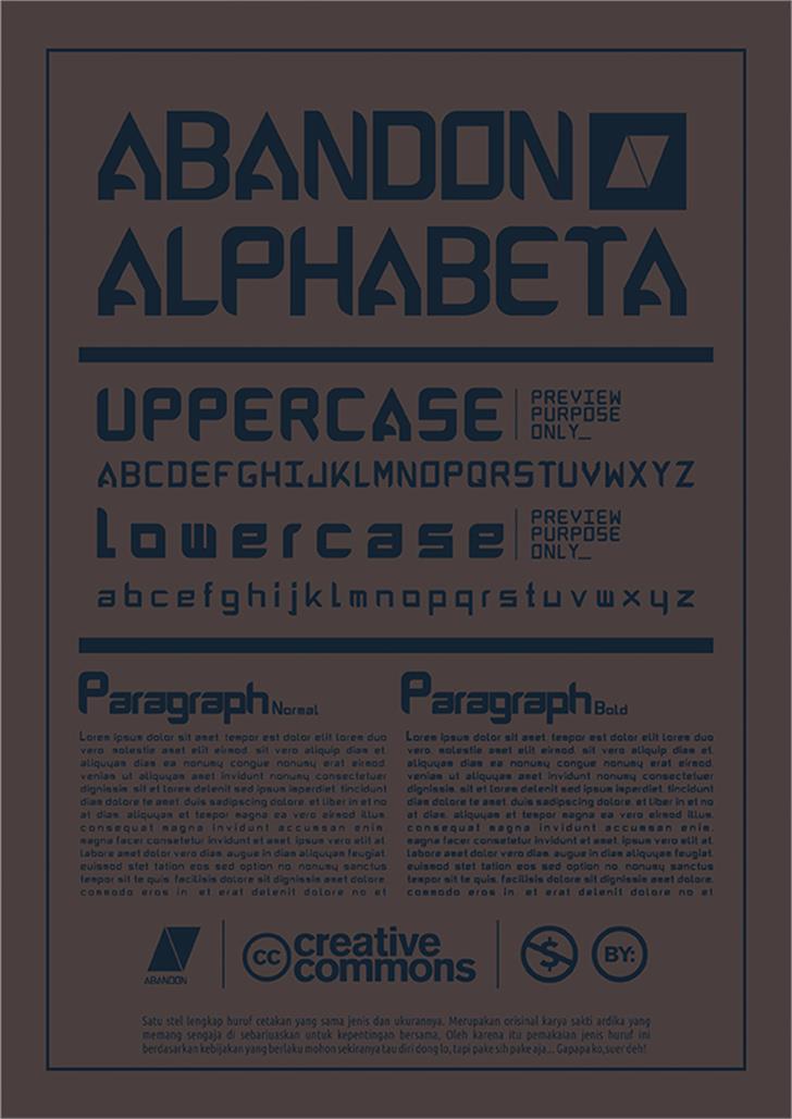 ABANDON ALPHABETA Font screenshot text