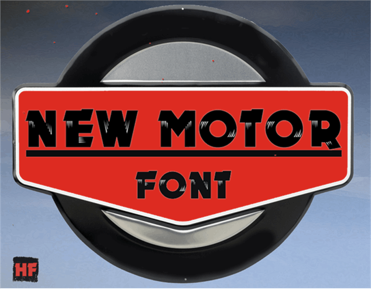 New MOTOR Font auto part sign