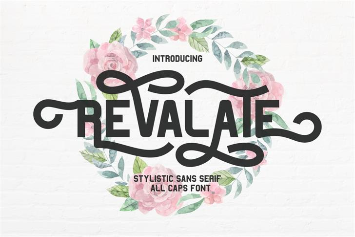 Revalate FreeVersion Font design graphic