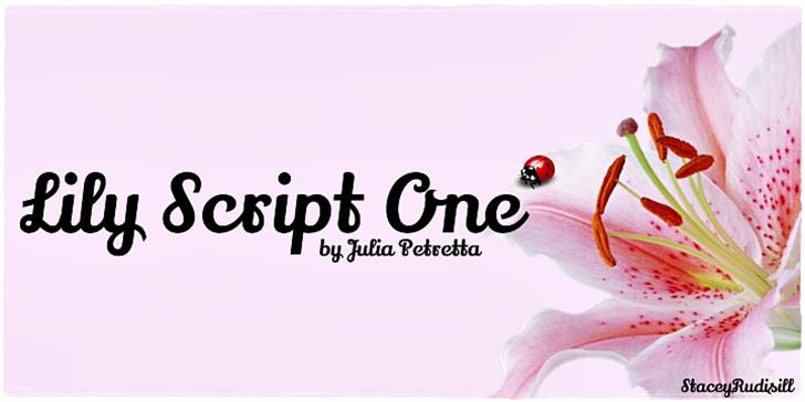 Lily Script One Font design screenshot