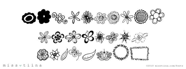 MTF Flower Doodles Font drawing sketch
