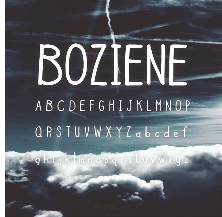 Boziene Font outdoor text