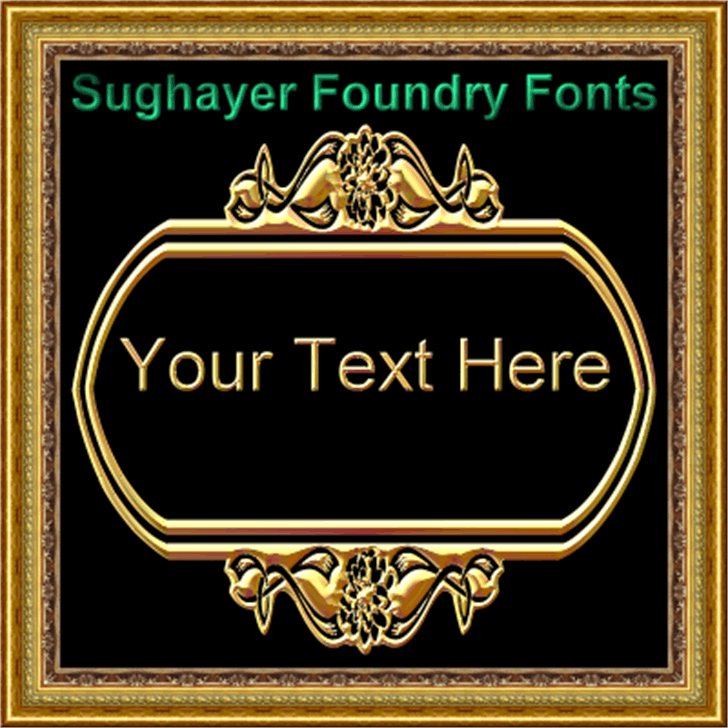 Vintage Panels_024 font by Sughayer Foundry
