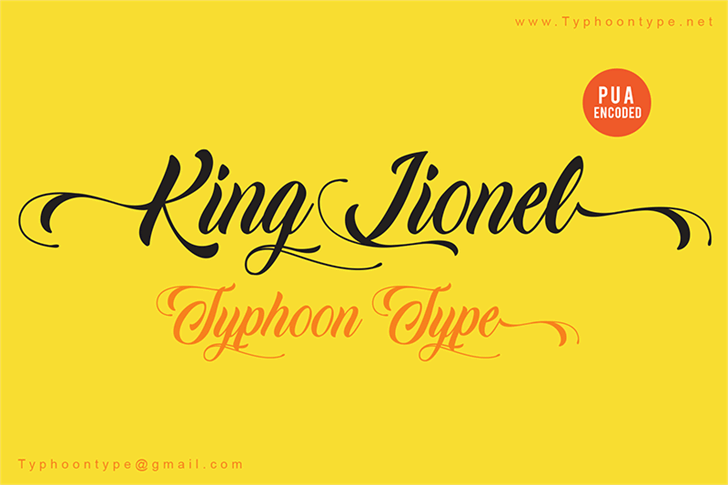 King Lionel - Personal Use Font handwriting