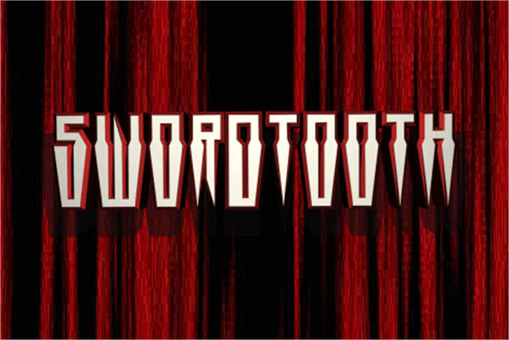 Swordtooth Font poster