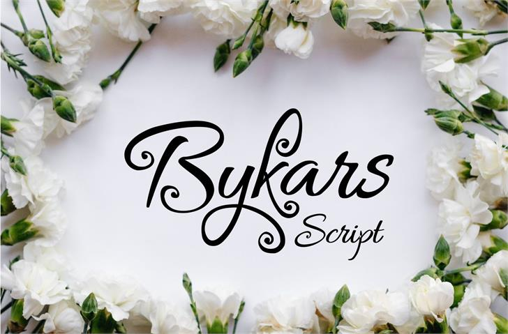 Bykars Font food flower