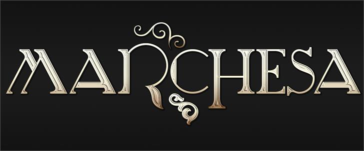 Marchesa Font design typography
