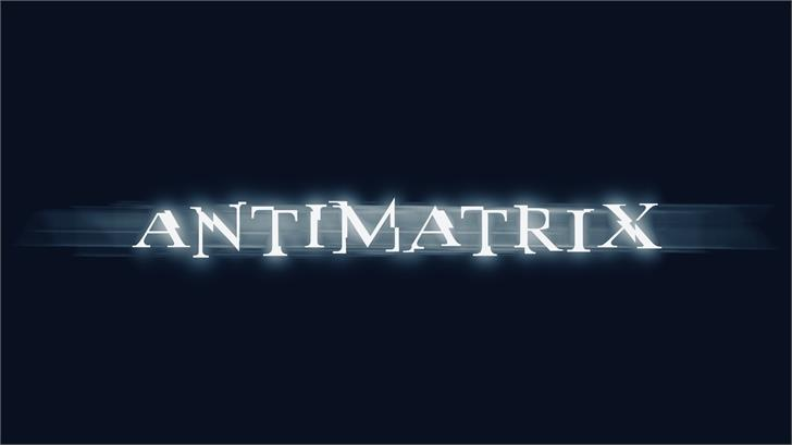 antimatrix Font poster