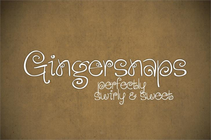 Gingersnaps Font handwriting text