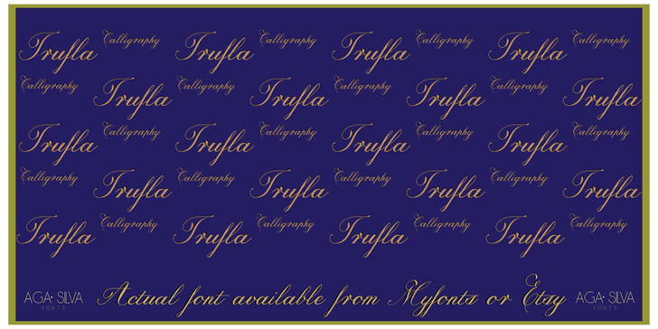 Trufla Words Font handwriting text