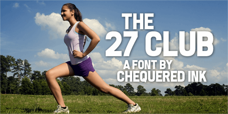 The 27 Club Font grass person