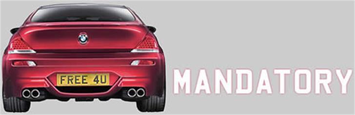 Mandatory Font land vehicle vehicle