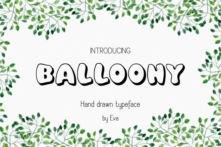 Balloony Font design graphic