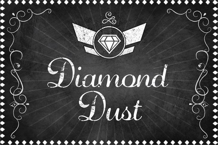 Diamond Dust Font design handwriting