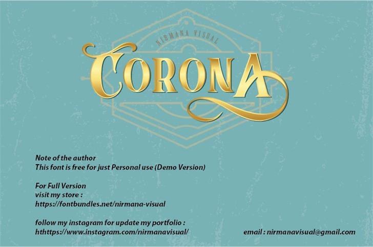 CoronA font by Nirmana Visual