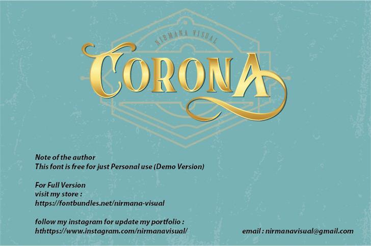 CoronA Font design typography