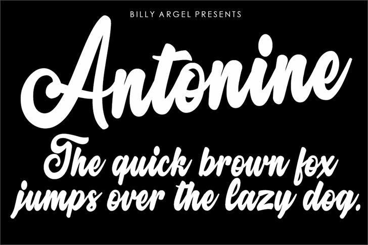 Antonine Personal Use Font text design
