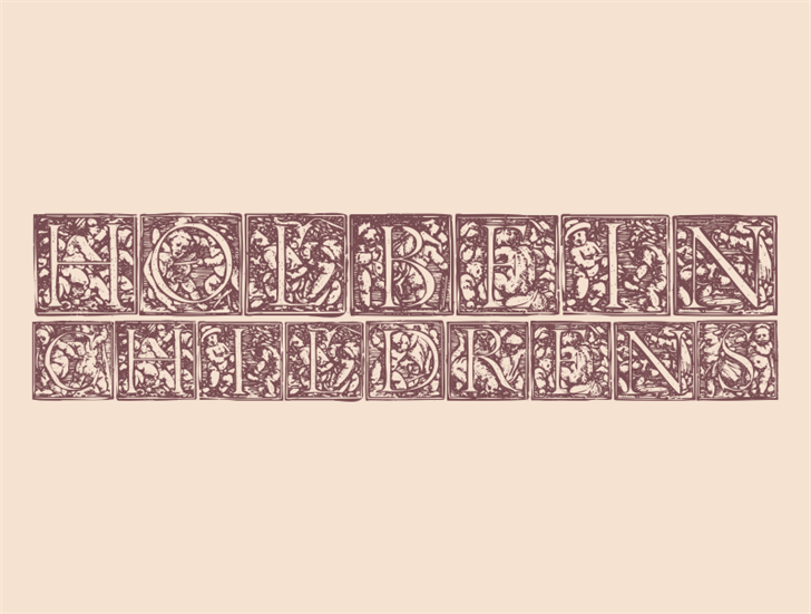 HolbeinChildrens Font furniture drawing