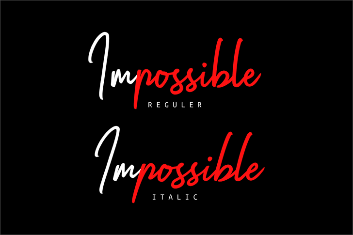 Impossible Font poster