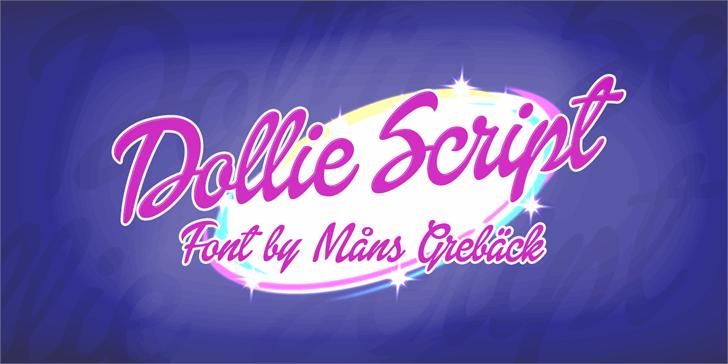 Dollie Script Personal Use Font design text