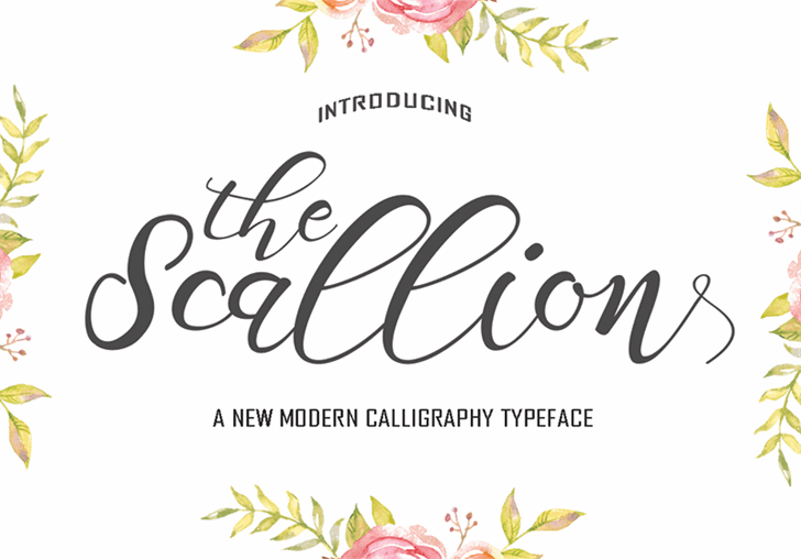 Scallion font by pollemstudio