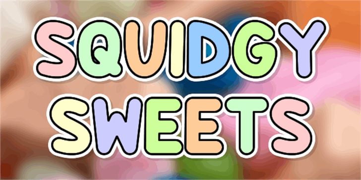 Squidgy Sweets Font cartoon design