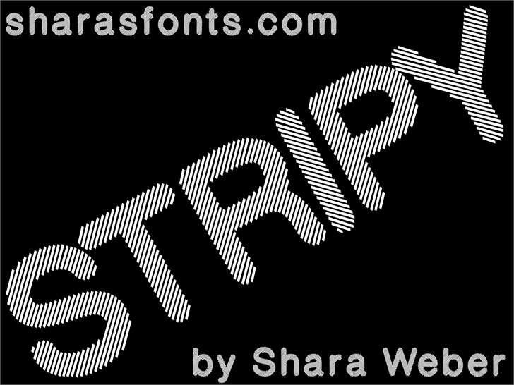 Stripy Reg Font design graphic