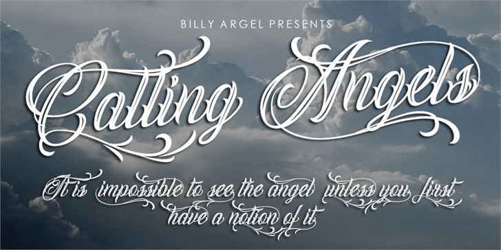 Calling Angels Personal Use font by Billy Argel
