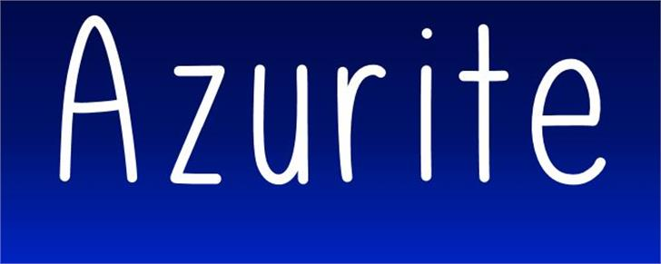 Azurite font by UpandIt