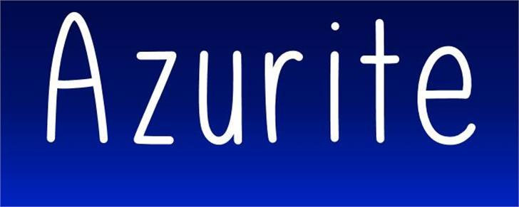 Azurite Font screenshot text