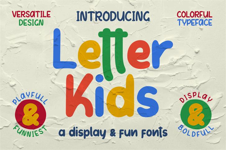 Letter Kids Font poster