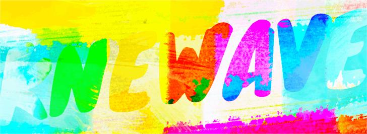 Knewave font by Tyler Finck