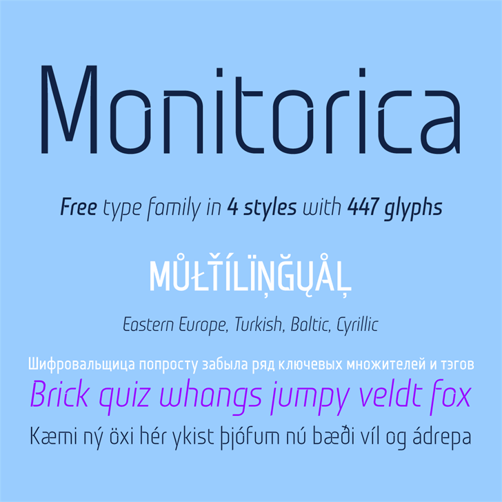 Monitorica Font text design