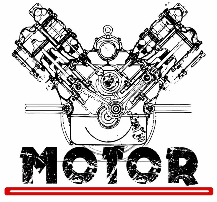 MOTOR Font sketch drawing